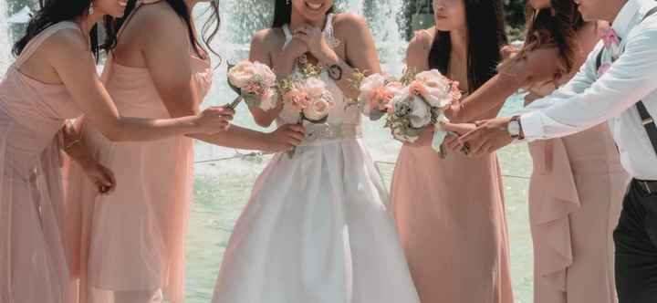 Bridesmaids: different styles in a few different shades - 1