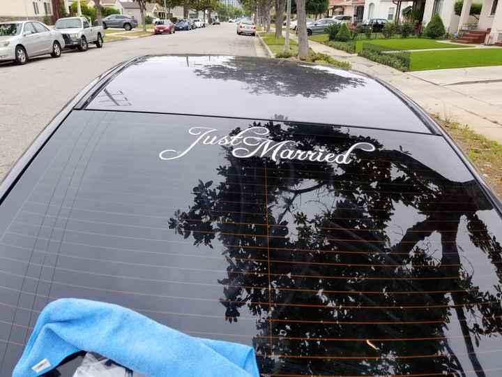 Decorating the get away car 😊 - 1
