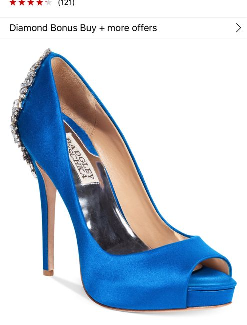Has anyone done blue shoes with your wedding dress? 2