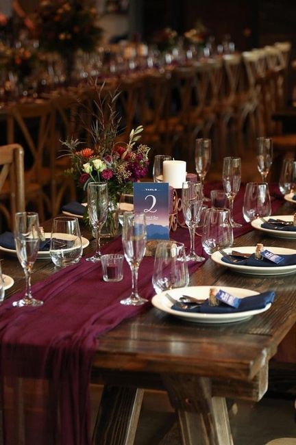 Cheese cloth table runners 4