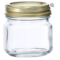 Shorter 8oz jar with a rounded square shape