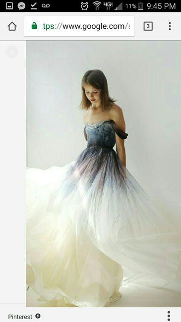 Dip Dye Wedding Dress Weddings Wedding Attire Wedding Forums