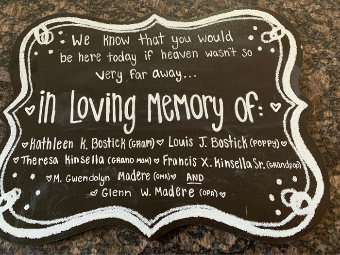 Memorial table question... 5