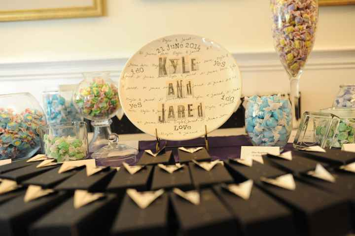 Wedding favor show off