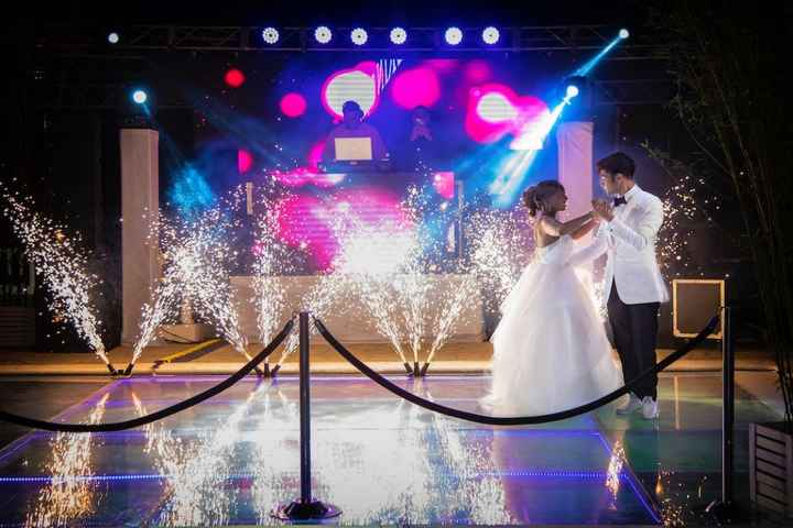 During the first dance