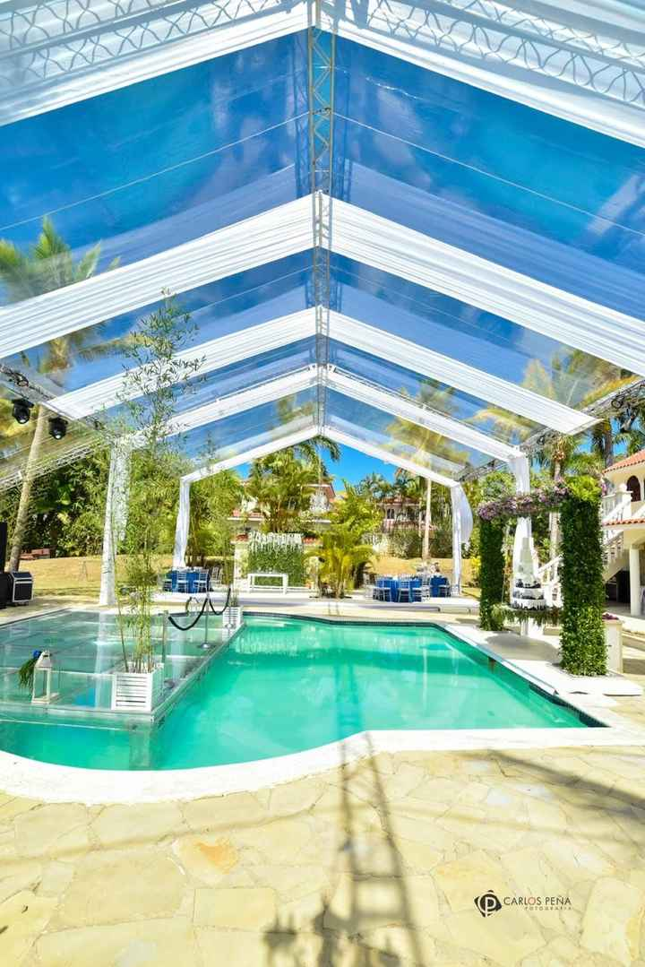 clear tent and pool dance floor