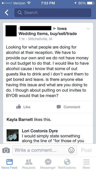 Had To Share Byob Weddings Community Conversations