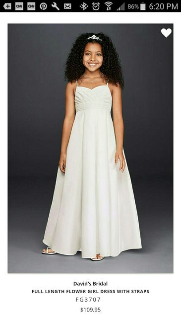 e246012c3b80 I want her in a floor length, very elegant dress, but for a reasonable  price. Found these 2 on DB, what do u think? Please share other ideas