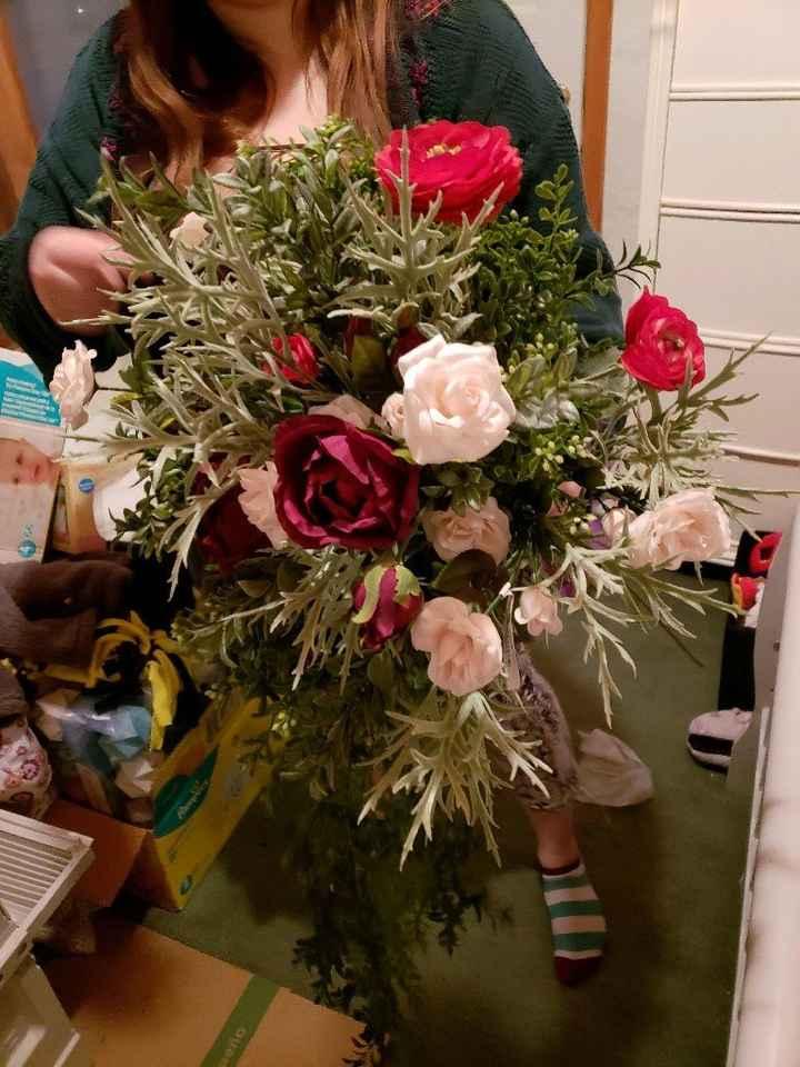 Silk flowers vs real flowers - 1