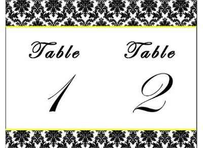 Table names cards **PICSS**