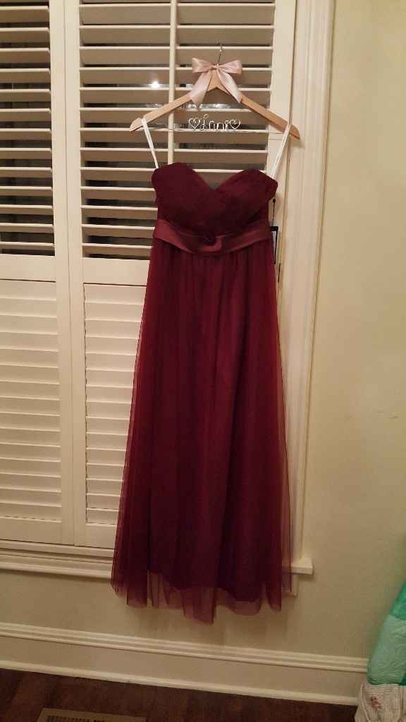 Cabernet/wine bridesmaids dresses frustration - 1