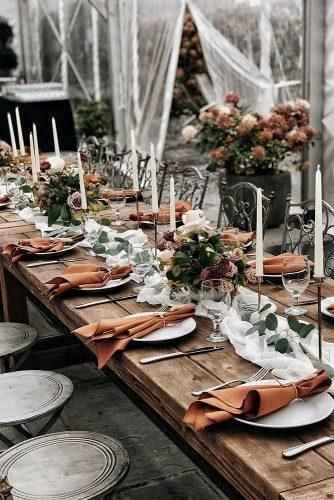 This is fall and pretty for a low centerpiece