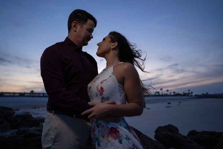 Beach Engagement Pictures - 2