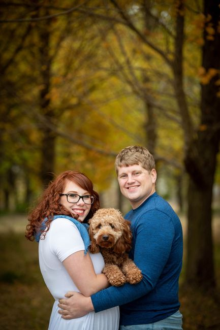 Dogs in engagement photos - 1