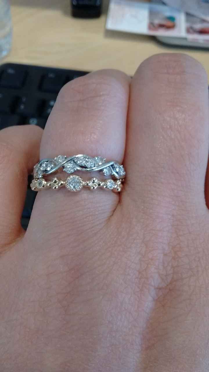 This is the wedding band and engagement ring together!