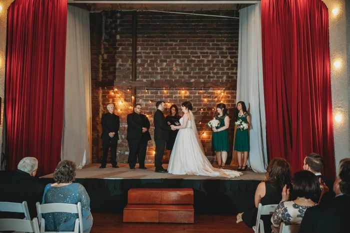 Will the bride stand on the left side? 2