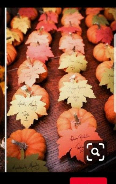 Fall place cards - 1