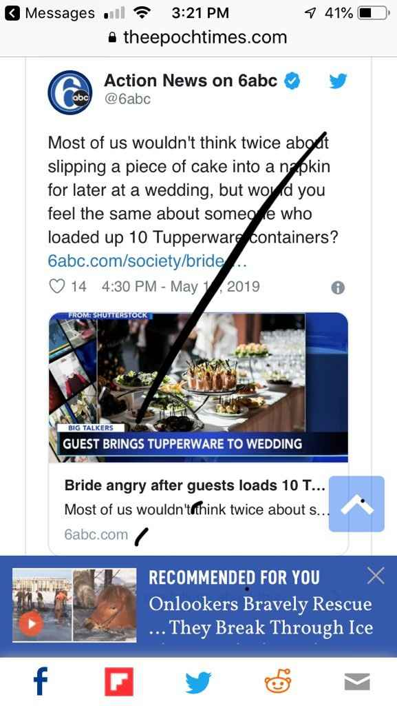 Who brings Tupperware to a wedding?? - 1