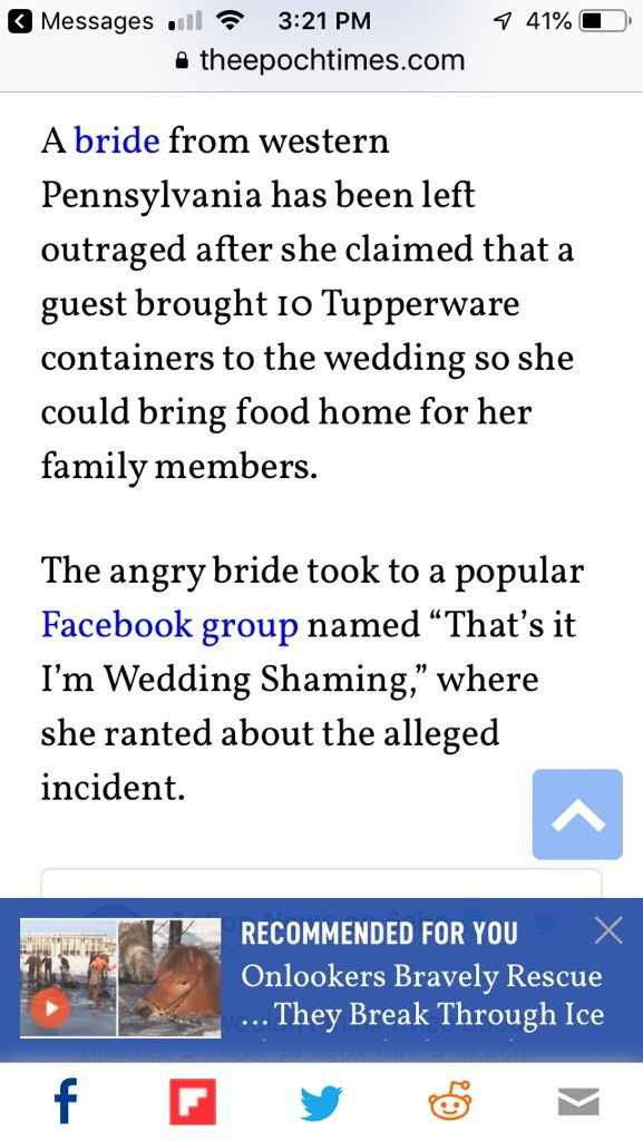 Who brings Tupperware to a wedding?? - 2