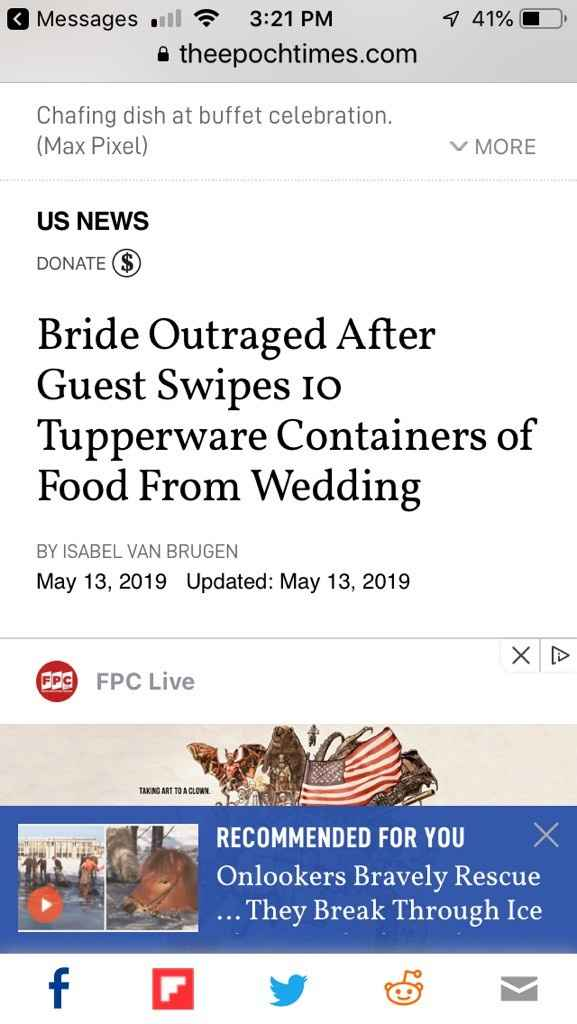 Who brings Tupperware to a wedding?? - 3