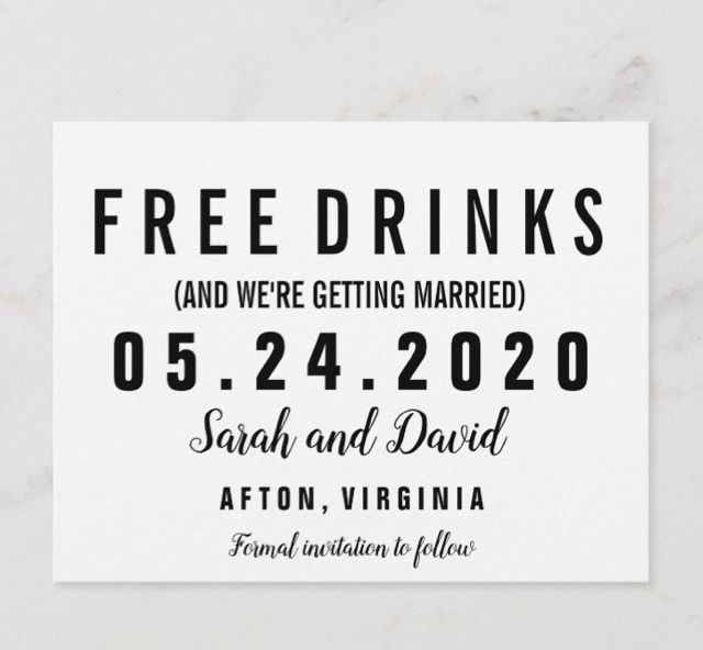 Our Save The Date Postcards 1