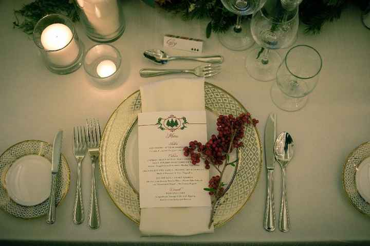 Marking escort cards with guest meal choices - 1