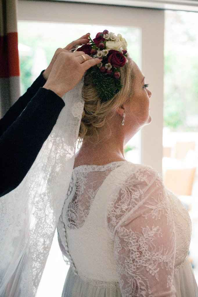 Veil above or below the updo? - 1