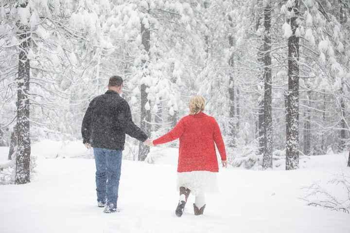 Wedding Photos in snow - 1