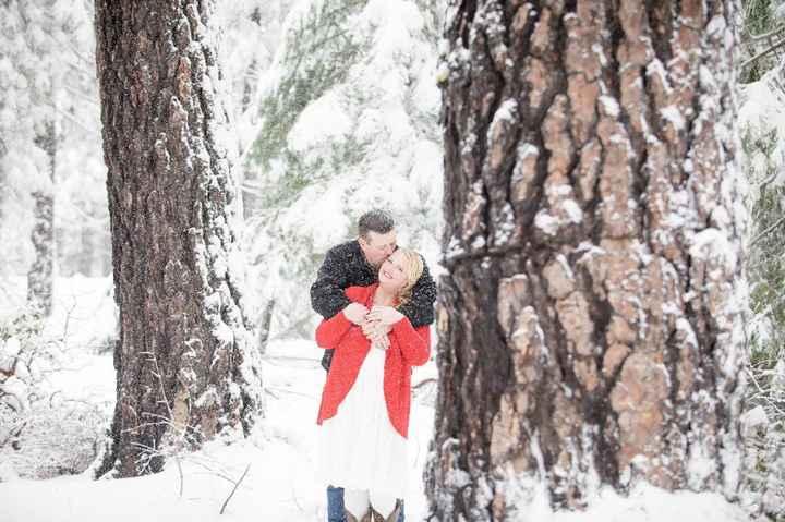 Wedding Photos in snow - 2