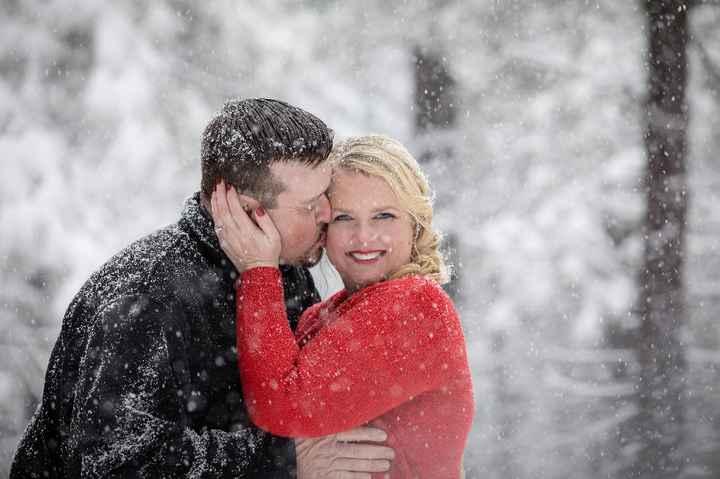 Wedding Photos in snow - 3