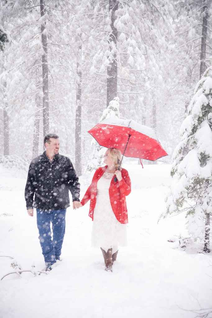 Wedding Photos in snow - 4