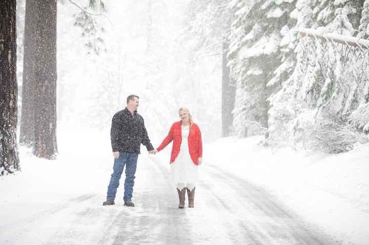Wedding Photos in snow - 5