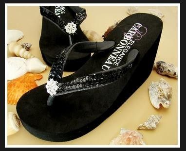 445022e8938a My wedding shoes are 4 inch (shown below) and these flip flops are 3 1 2.  Good Possibility