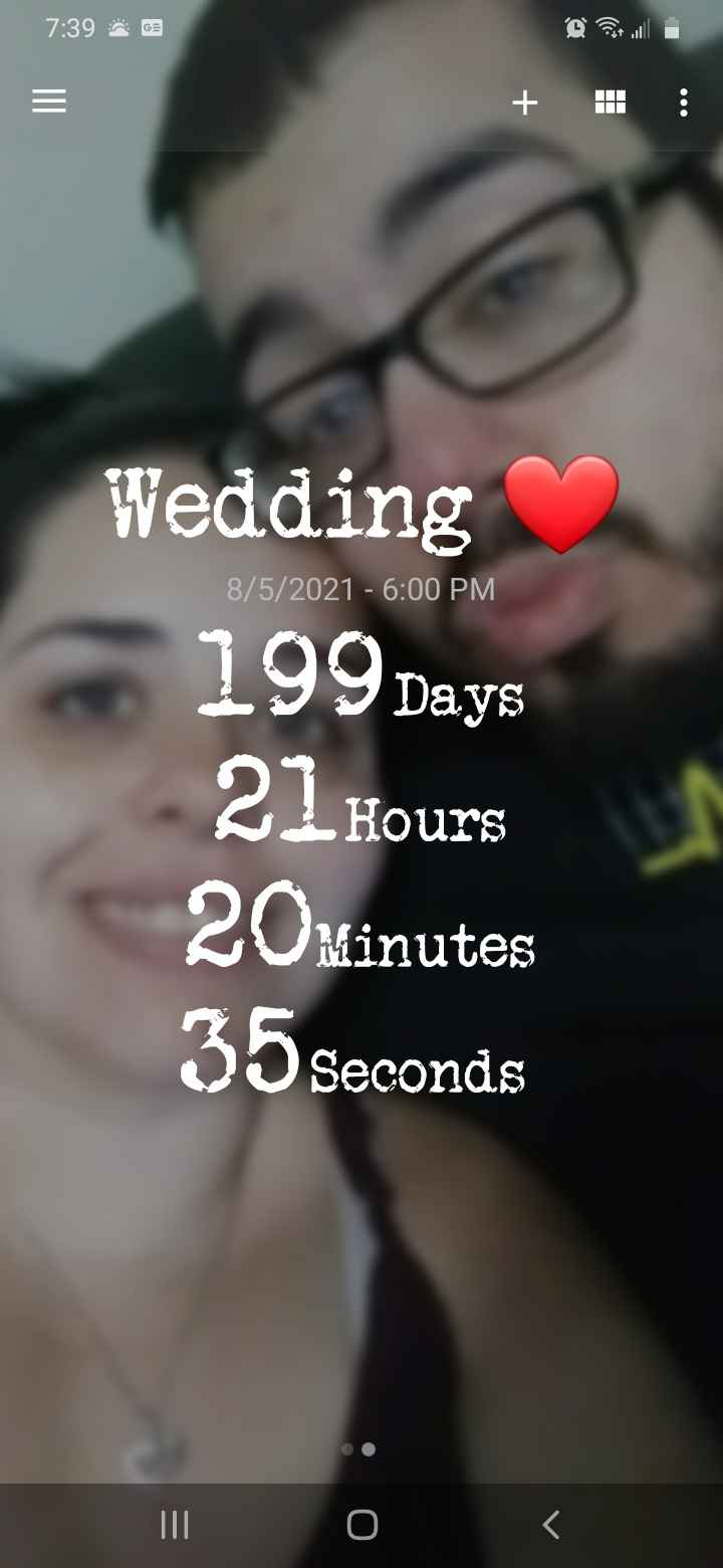 How many days until your wedding? 1
