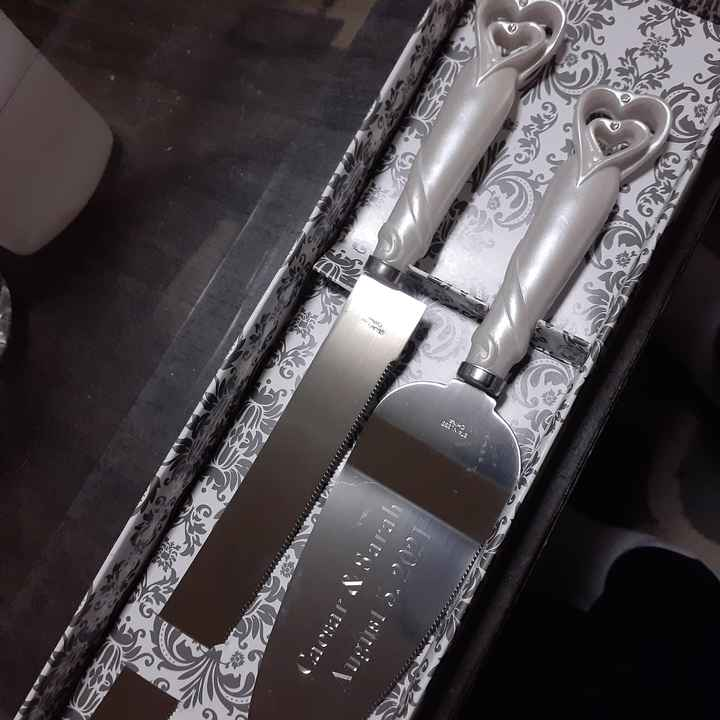Cake knife and server from godmother - 1