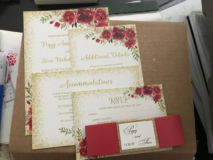 Advice about save-the-dates and invitations 1