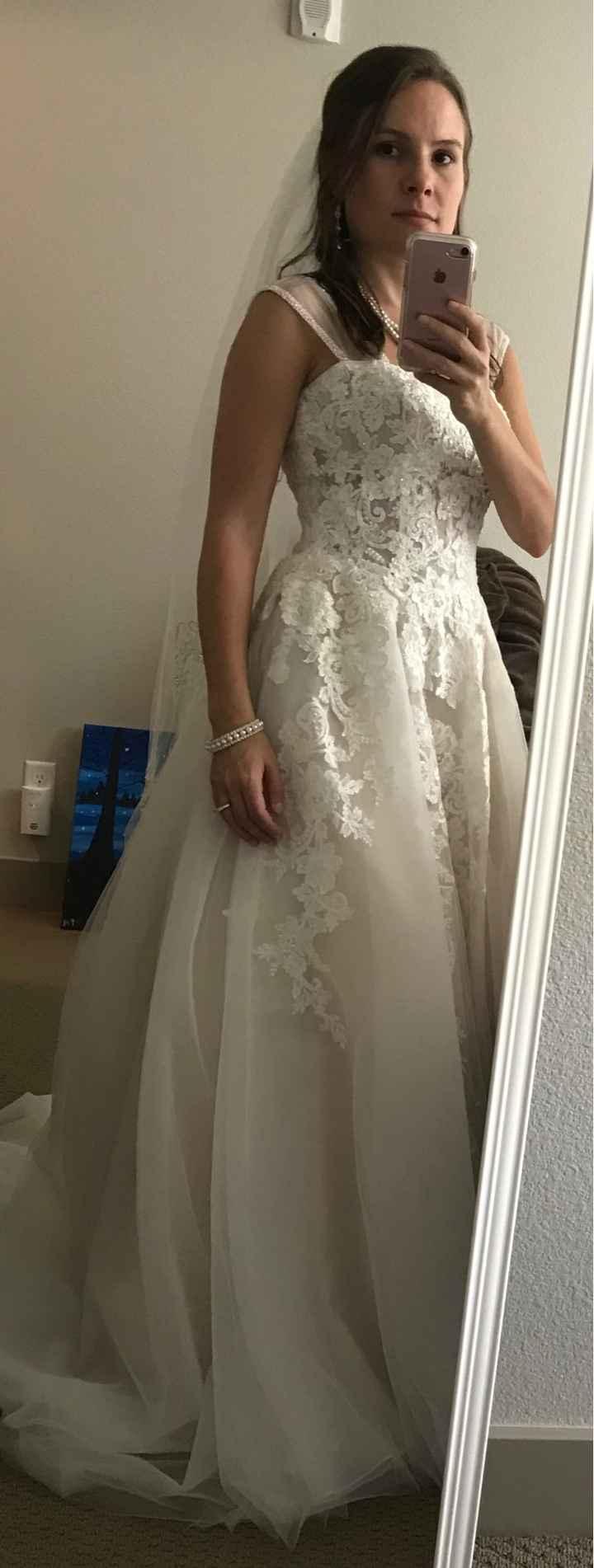 Adding thicker straps to wedding dress - 2