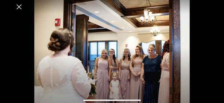 Revealing my dress to bridesmaids - 1