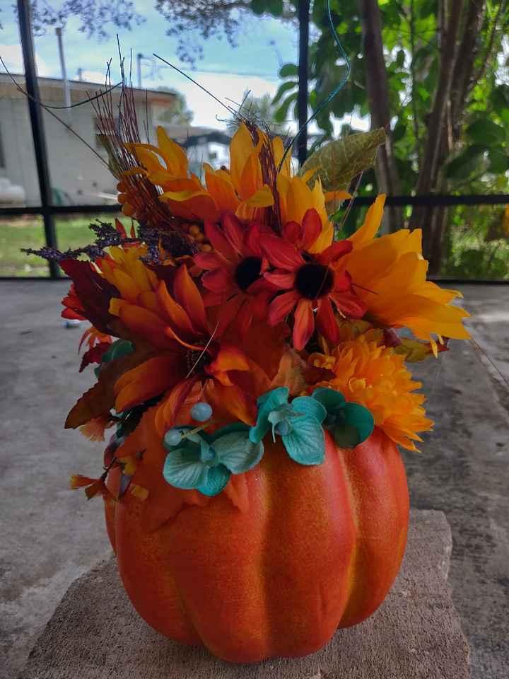 Need ideas for ugly foam pumpkins - 2