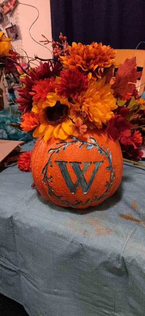 Need ideas for ugly foam pumpkins - 3