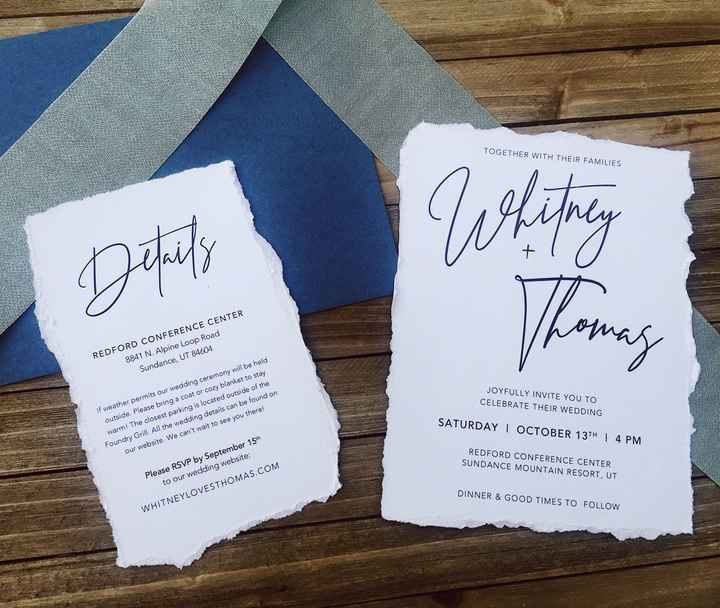 Deckled Edge Invitations - 1