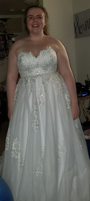 My wedding dress, i absolutely love it, adding sleeves!  Anyone else wearing a ball gown?? 6