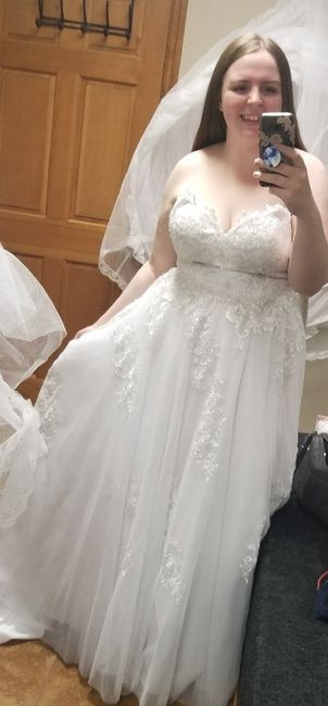 My wedding dress, i absolutely love it, adding sleeves!  Anyone else wearing a ball gown?? 7