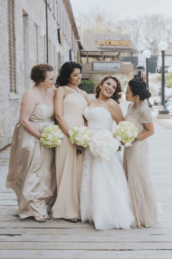 What is the appropriate amount to ask your bridesmaids to spend on their dress? - 1