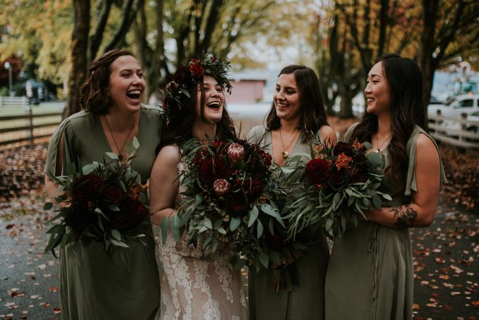 What does your bridesmaids dresses look like? 3
