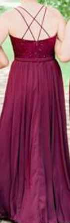 Bridesmaids (Back) - will be the darker burgundy from the 1st 2 pictures