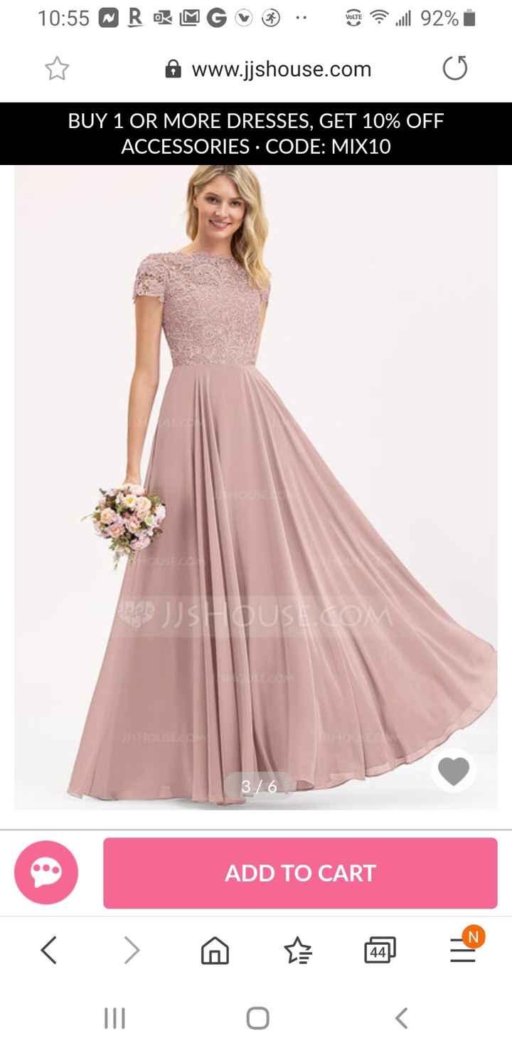 Bridesmaid dress- does this look like wedding dress? 1
