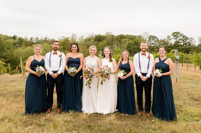 Can my bridesmaids wear different dresses? 2