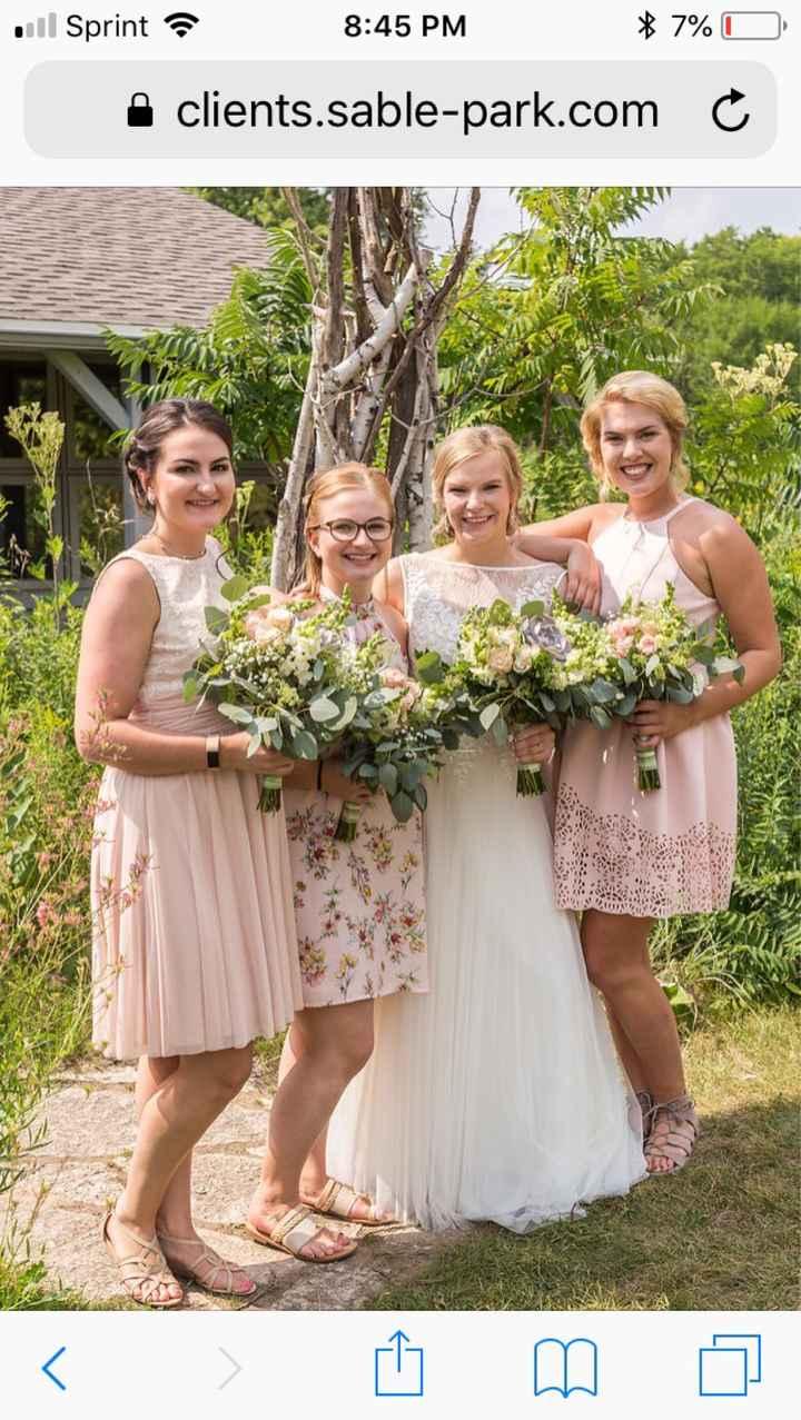 Mismatched bridesmaid dresses - 1