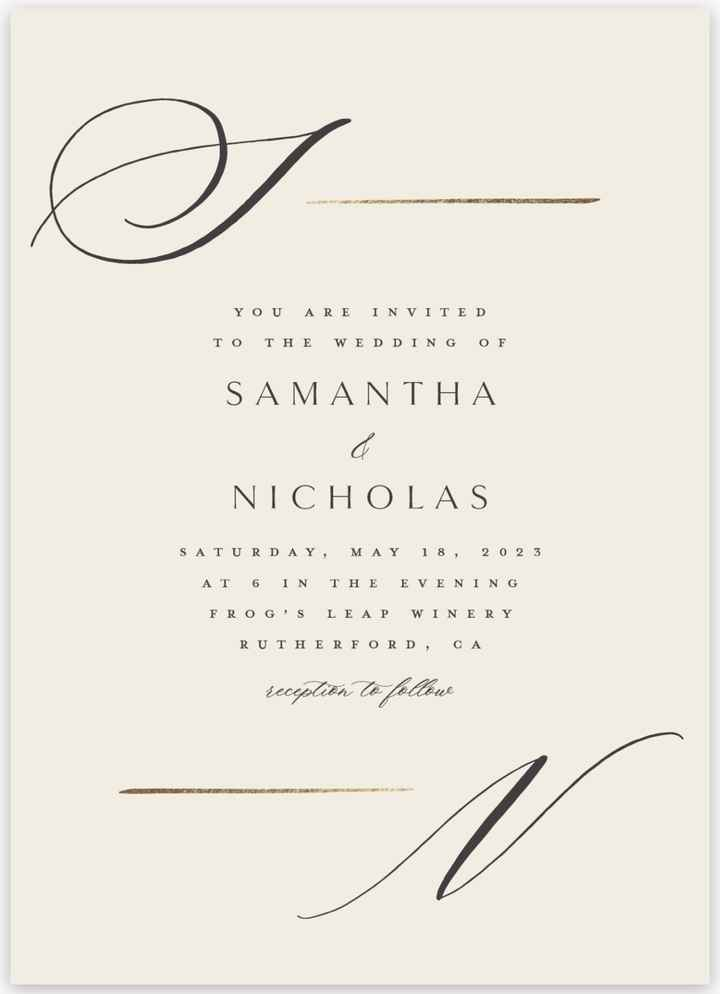 Wedding invitations looking for inspiration - 1